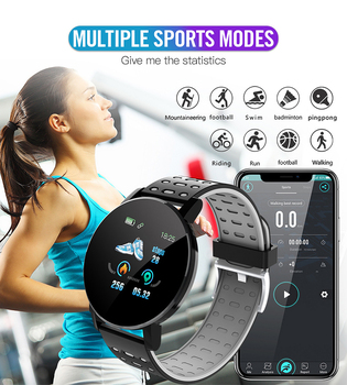 2021 New 119S Full Touch Smart Watch Men Women Sports Clock IP67 Waterproof Heart Rate Monitor Smartwatch For IOS Android Phone 3