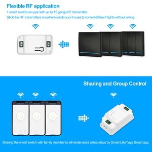 Image 5 - Smart WiFi Light SWITCH 433MHz RF Wall SWITCH Tuya/Smart Life APPไร้สายสมาร์ทDIY BreakerโมดูลWorks alexa Google Home