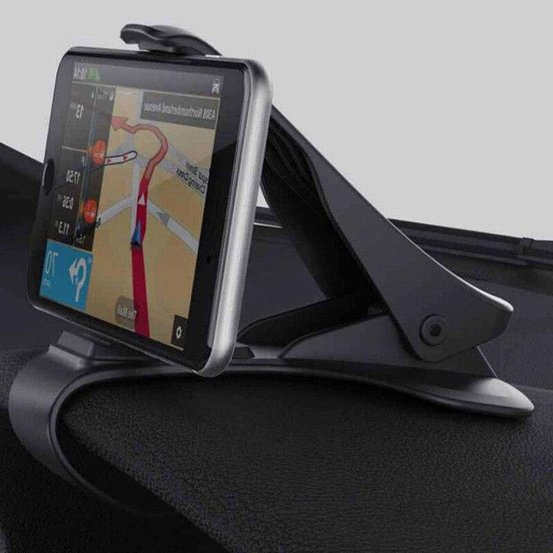 Soporte de teléfono para salpicadero de coche soporte de teléfono de navegación GPS Universal pinza de teléfono móvil sostenedor plegable soporte de montaje Styling