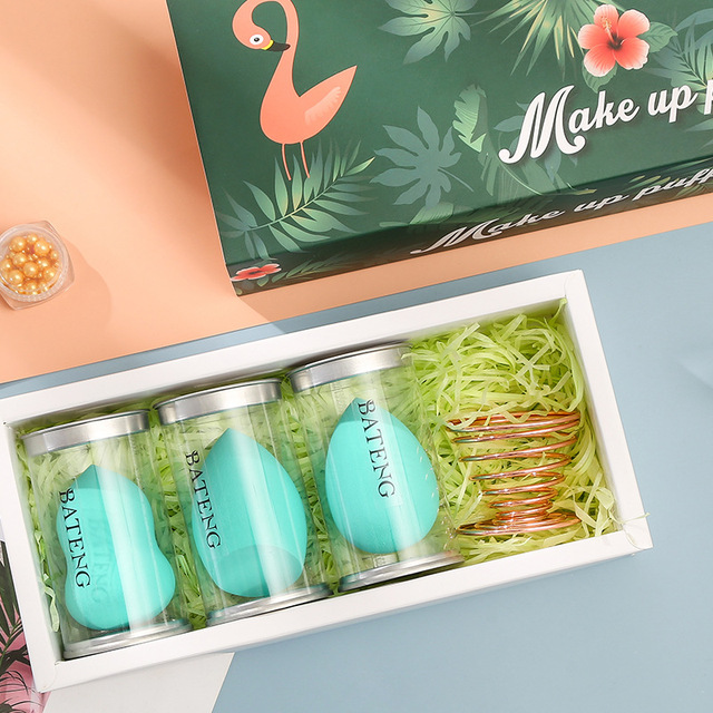 Hydrophilic Non-Latex Gourd Water Drop Powder Puff Cosmetic Egg Set Sponge Makeup Egg Set Beauty Tool Customizable 1