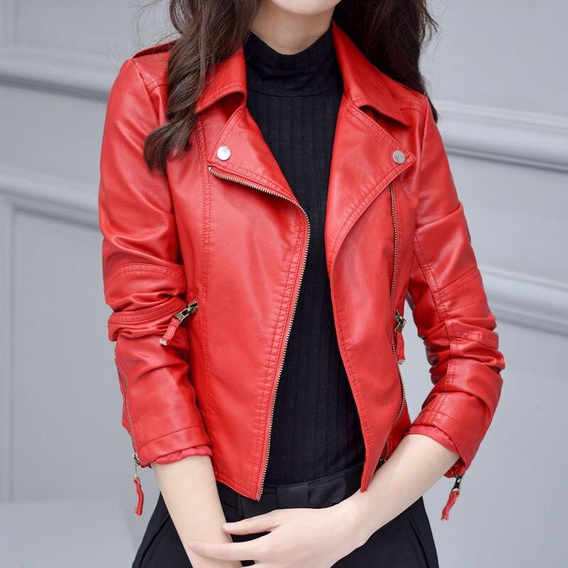 Elegant Autumn Winter Zipper Basic   Suede   Jacket Coat Motorcycle Jacket Women Outwear Pink Slim Short Winter Jacket Big Size 4XL