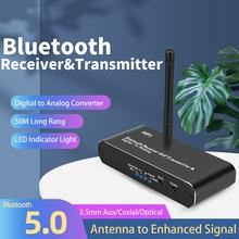 محول صوت رقمي إلى تناظري لاسلكي مع DAC وجهاز إرسال واستقبال Bluetooth لصوت ستيريو HiFi و Bluetooth و DAC