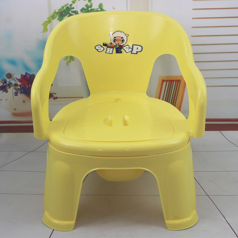 Plastic Toilet Baby Dual Purpose Potty Chair CHILDREN'S Chair Men And Women Extra-large Chamber Pot Bedpan Extra-large Zuo Bian