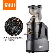 MIUI Extracteur de jus Presse à froid en spirale à 7 étages Technologie brevetée sans filtre Machine à jus de fruits et légumes commerciale électrique facile à nettoyer Super moteur AC - Gris et noir avancés