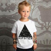 Детская одежда для маленьких мальчиков с сеткой, футболки с длинными рукавами и принтом тату, топы для маленьких мальчиков, топы с длинными рукавами для малышей, блуза и рубашка, Лидер продаж