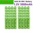 Новинка 100%, сменные литий-ионные литий-полимерные литиевые батареи, MP3, часы, фонарик, Ni-MH, батарея AAA 3000 В, мАч, перезаряжаемая батарея