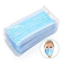 20 100 قطعة 3 طبقة المتاح واقية الوجه الفم أقنعة مكافحة PM2.5 Influenza البكتيرية الوجه الغبار واقية السلامة أقنعة
