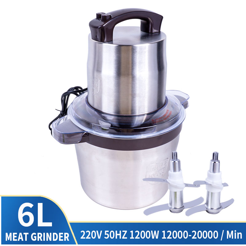 220V 300W-1200W  Capacity Meat Grinder High Power Minced Meat Mixer Household Electric Stainless Steel Crusher