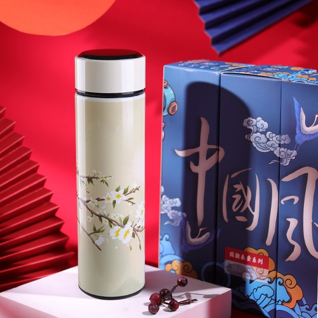 #40 Smart Water Bottle Stainless Steel Vacuum Flask Lcd Screen Temperature Display Travel Mug Thermo Bottle Gifts Thermo Cup 3