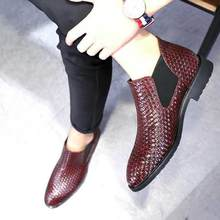 Yeeloca botas masculinas, botas masculinas de tecido único, para primavera e verão, tamanhos 38 48