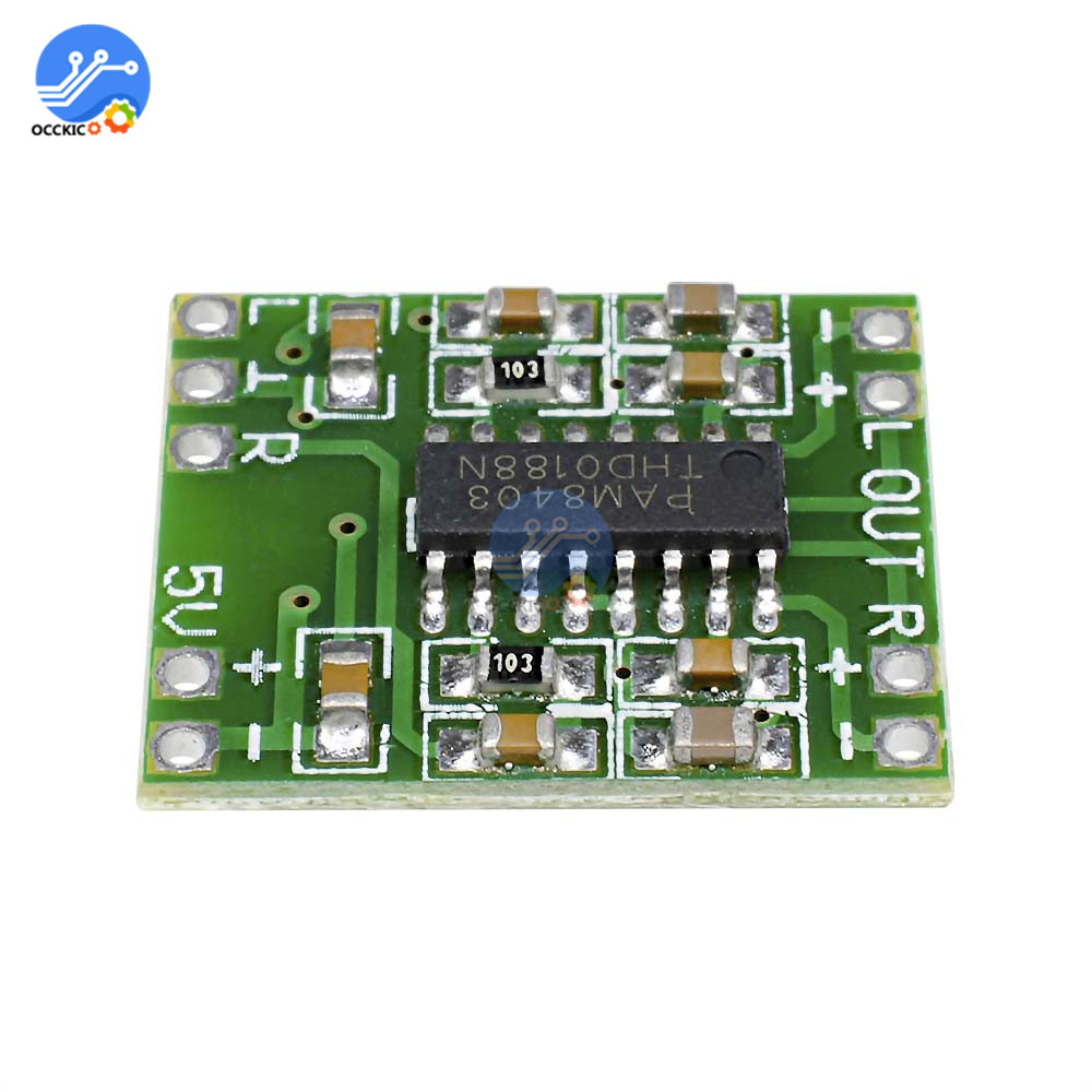 5Pcs PAM8403 Mini Digital Amplifier Board 2 * 3W Class D Stereo Audio Power Amplifiers Board For Ardunio Efficient