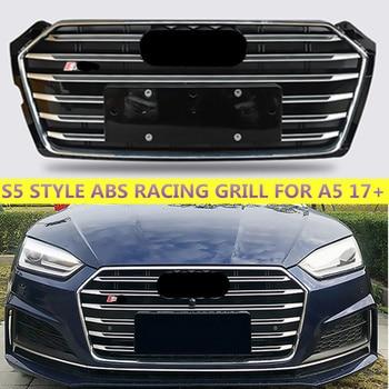 Pour S5 Style ABS Grill pour A5 noir/Chrome/gris cadre course Grille capot avant pare-chocs Sport édition 2017 2018 2019