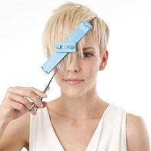 New Professional Hair Trimmer Fringe Cut Tool For Layers Bangs Scissor Clipper Over Comb Guide Home Hair Styling Level Ruler(China)