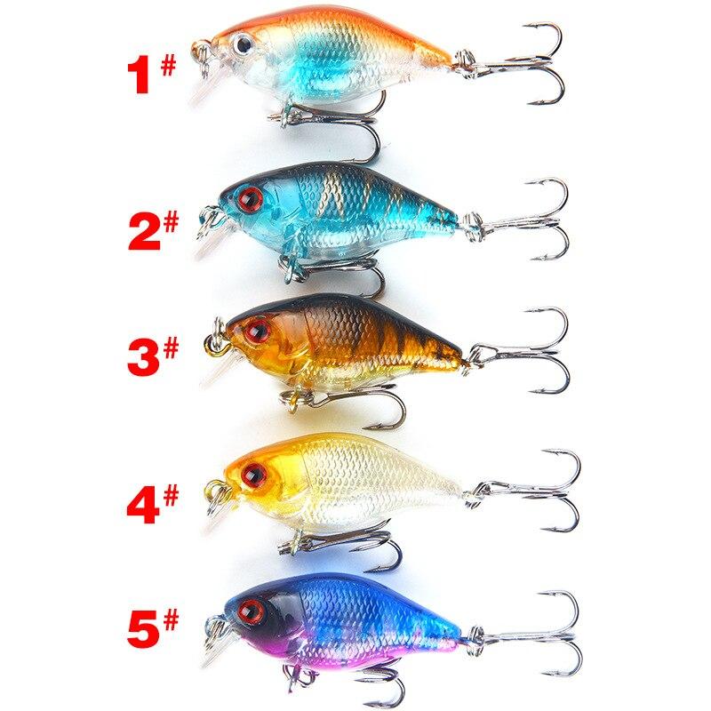 1pcs Crankbait Fishing Lures 4cm 4.6g Isca Artificial Wobblers For Fishing Hard Bait Minnow Swimbait Bass Lure Carp Fly Fishing