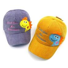 Caps Kids Baseball-Cap Child Hat Dinosaur Girl Winter Baby Hats Snapback Boy Cotton Hip-Hop