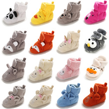 New Baby Shoes Socks Boy Girl Booties Winter Warm Animal Fac