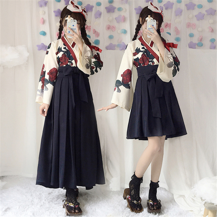 Japanese Original Style Kimono Long and Short Dress 2