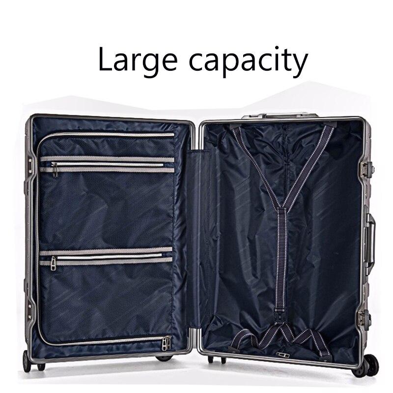 Roll Gepäck Kabine Tasche, 18 zoll Koffer mit rad, PU Trolley mit Schloss, bunte Tragen Auf Reise Box mit laptop tasche - 3