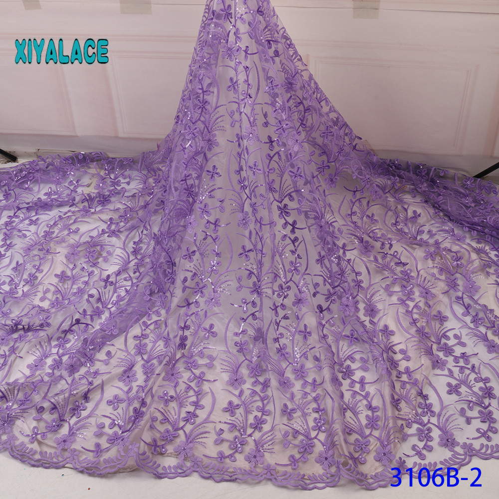 Nigerian Lace BEAUTIFICAL 3d Lace Flowers Latest Styles French Party Lace Fabrics 5 Yards 2019 Tulle Fabric 3d YA3106B-2