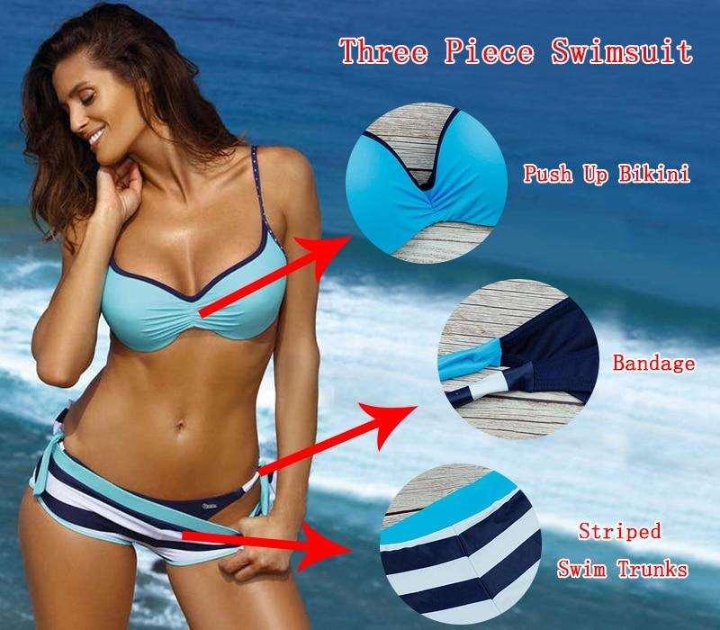 Hd140994bc2f34bda8ec2f8f40159048bg 2019 Sexy Bikini Set Three Piece Swimsuit Women Push Up Swimwear Brazilian Bathing Suit Beachwear Swimming Suit For Women Bikini