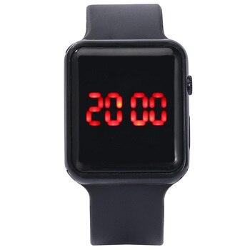 2020 homens mulheres led relógios pulseira de silicone relógio eletrônico único relógio quadrado esporte correndo relógio de pulso presentes relogio masculino 1