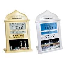 1pc led muçulmano islâmico relógio de oração azan atã despertador relógio de mesa retroiluminação relógios de oração com display lcd decoração para casa despertador