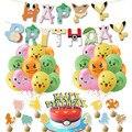 1 комплект одежды с принтом «Покемон Пикачу» воздушный шар с гелием для День рождения украшение шар Pokemon Happy флажок на день рождения Baby Shower Де...