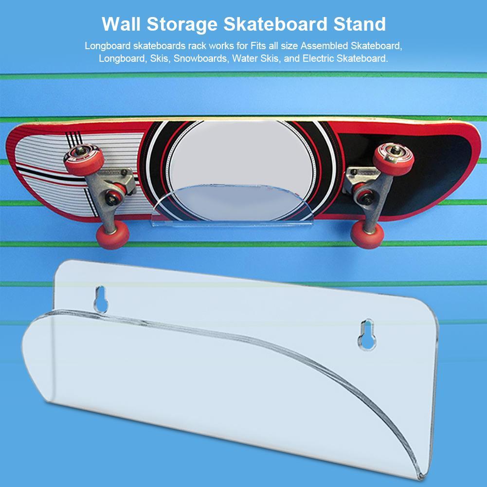 Skateboard Wall Hanger Display Rack//Invisible Clear Wall Mount Holder//Wall Storage Skateboard Stand//Wall Mount Rack//for Storing Your Skateboard or Longboard Skate