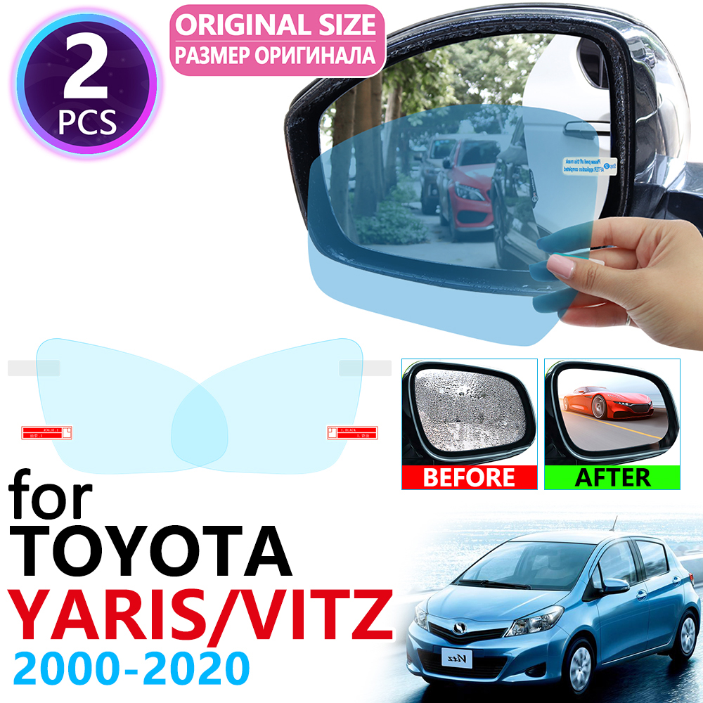 For Toyota Yaris Vitz XP10 XP90 XP130 10 90 130 2000~2019 Full Cover Rearview Mirror Rainproof Anti Fog Film Accessories 2018