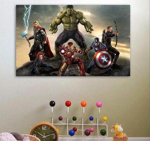 Один pice холст картина плакат Мстителей фильм Marvel плакат супергерой стены картина Тор Халк Железный человек стикер украшения