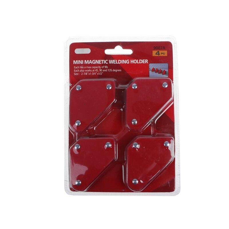 4 pçs/lote 4 Soldagem Magnet Magnetic Titular Quadrado Seta 45 90 135 9LB Braçadeira Braçadeira Magnética para Ferro de Solda Elétrica ferramentas