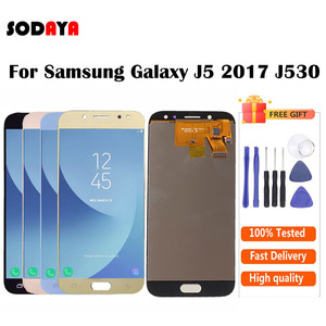 Image 1 - Adjustable Brightness For Samsung Galaxy J5 2017 J530 J530F SM J530F LCD Display + Touch Screen Digitizer Assembly