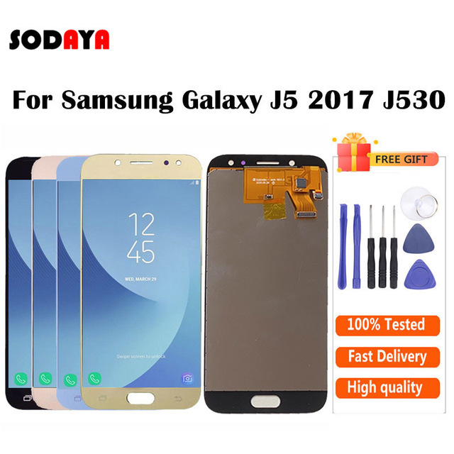 Adjustable Brightness For Samsung Galaxy J5 2017 J530 J530F SM J530F LCD Display + Touch Screen Digitizer Assembly