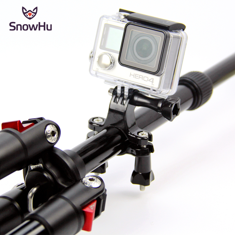 SnowHu For Gopro Accessories Bike Handlebar Seatpost Pole Mount Tripod For Gopro Hero 8 7 6 5 4 3 Xiaomi YI SJCAM SJ4000 GP01