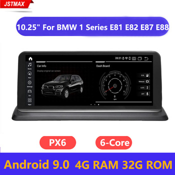 Android 9.0 Car GPS Navi Stereo Radio For BMW E81 E82 E87 E88 6-Core CPU 2005+ 4G+32G RAM IPS Touch Screen Multimedia Player BT