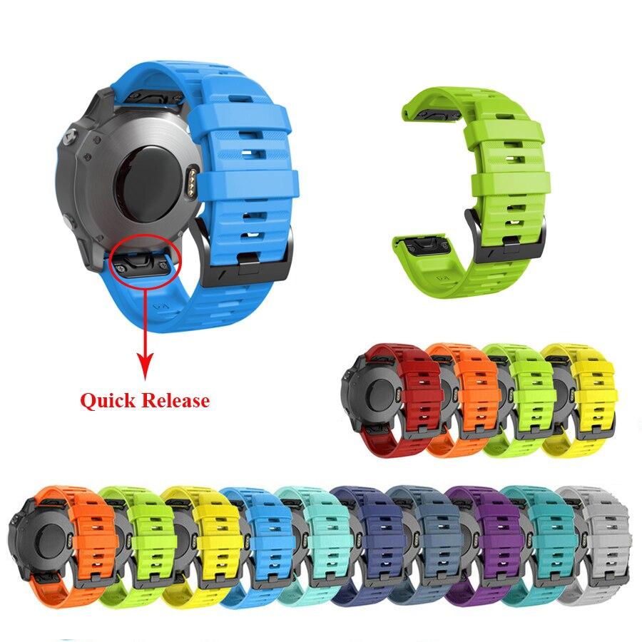 JKER 5Pcs 26 22MM Quick Release Watchband Strap For Garmin Fenix 6X Pro Watch Easyfit Wrist Strap For Fenix 6 Pro Smart Watch