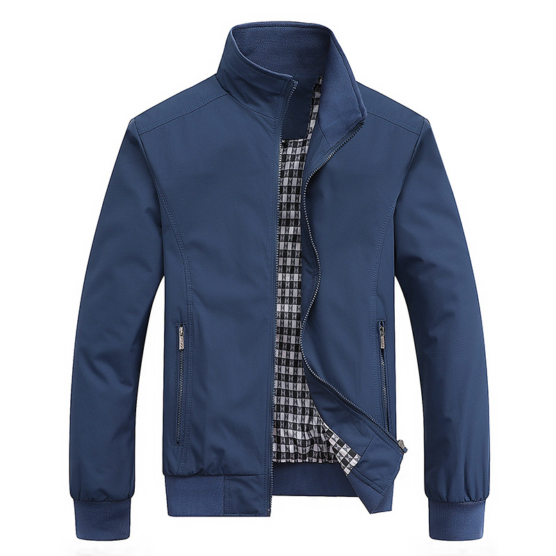 Casual Solid Fashion Slim Bomber Jacket Men