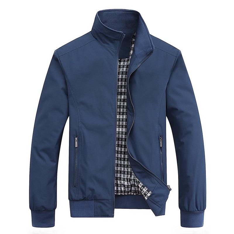 2020 Spring Autumn Casual Solid Fashion Slim Bomber Jacket Men Overcoat New Arrival Baseball Jackets Men's Jacket M-6XL Top