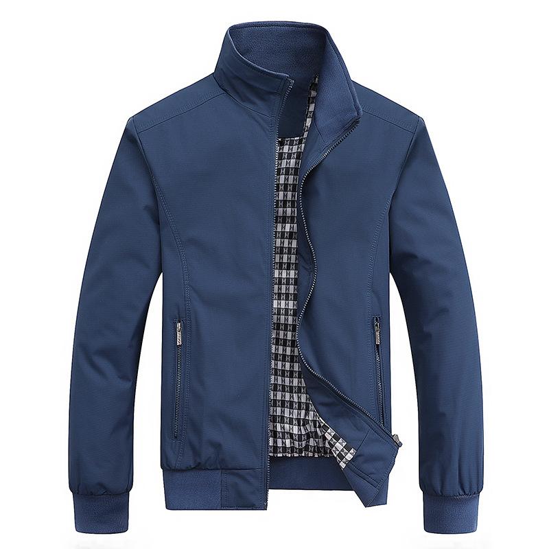 2021 Spring Autumn Casual Solid Fashion Slim Bomber Jacket Men Overcoat New Arrival Baseball Jackets Men's Jacket M 6XL Top
