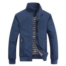 2021 Spring Autumn Casual Solid Fashion Slim Bomber Jacket Men Overcoat New Arrival Baseball Jackets Men's Jacket M-6XL Top