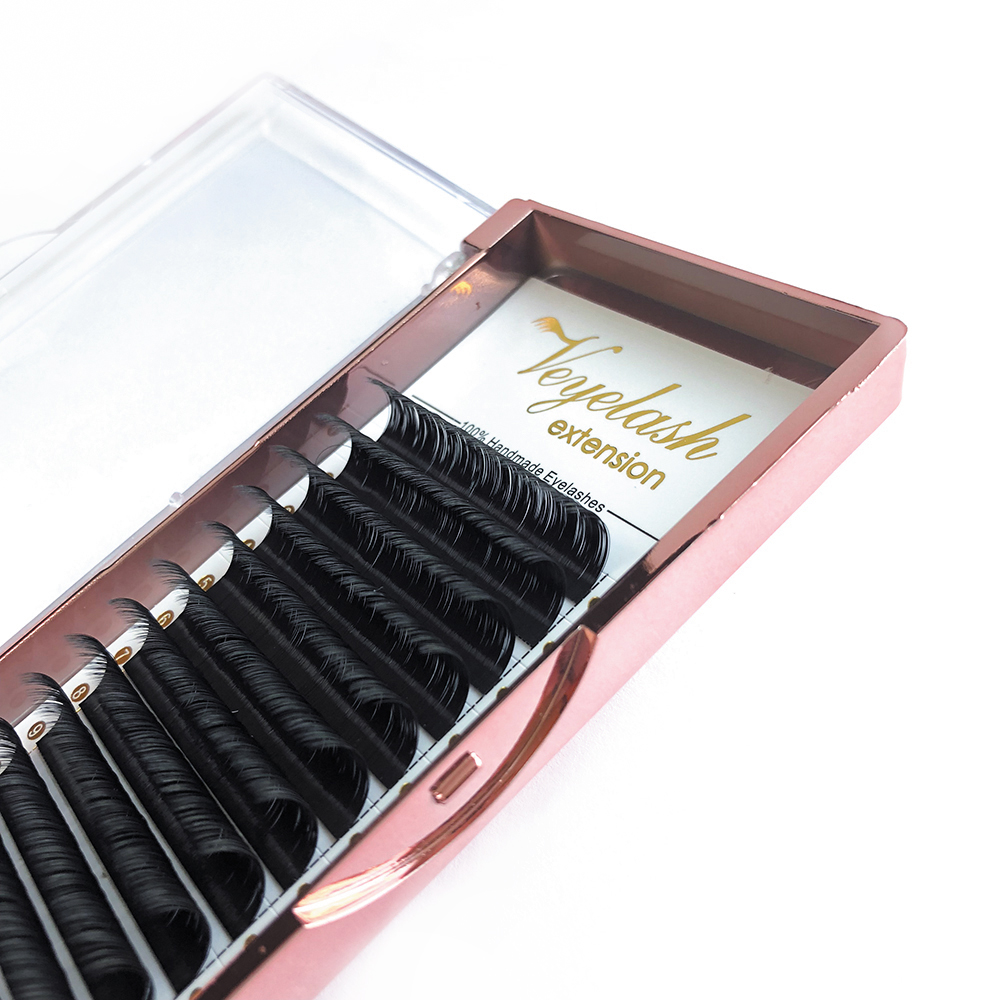 Veyelash Custom Your Logo Individual Eyelash Extension Silk Lashes Russian Volume Classic Eyelash Extensions