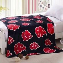 Наруто красный одеяло с облаками Косплэй Опора фланелевый флисовый