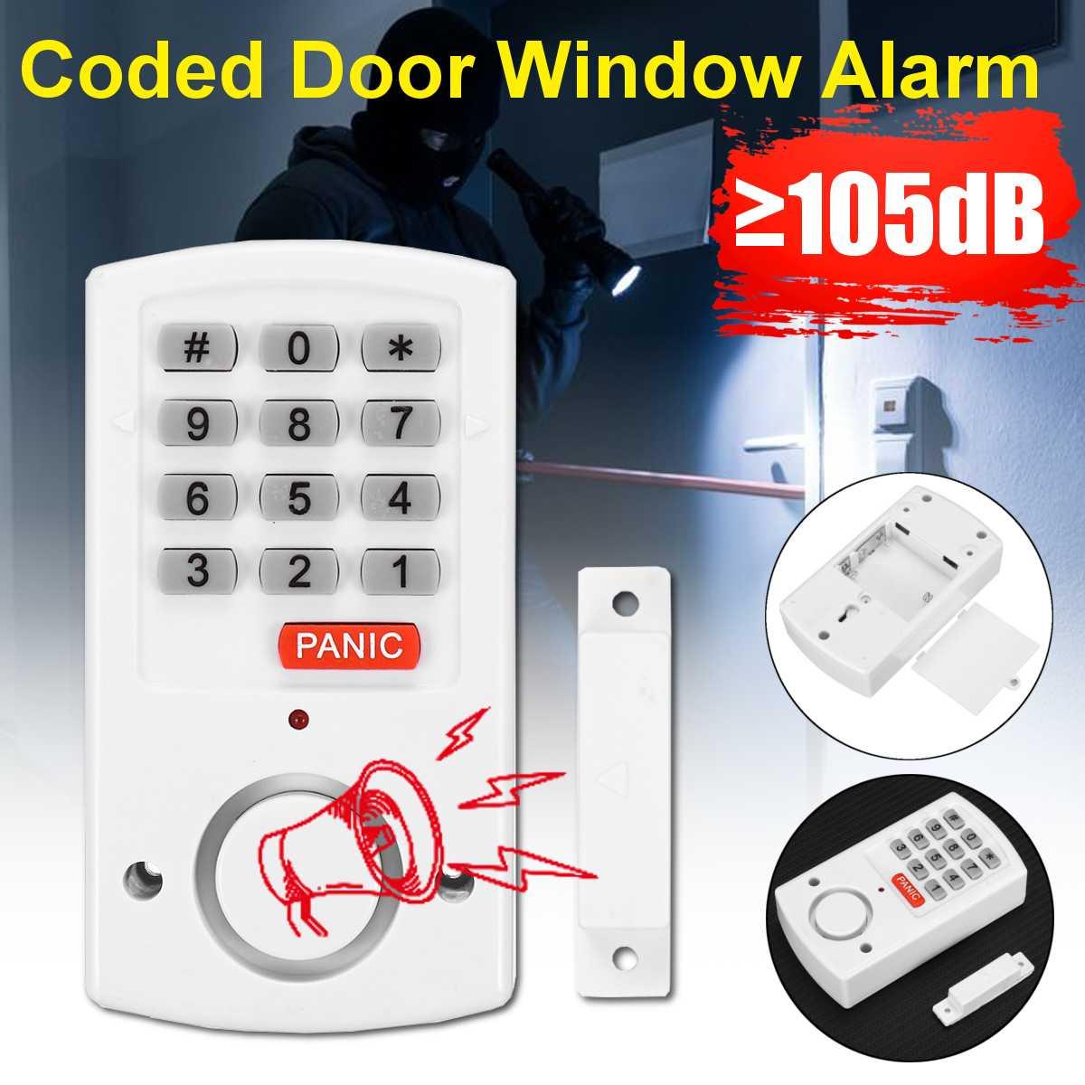 Домашняя система охранной сигнализации автономные магнитные датчики, независимая беспроводная домашняя сигнализация для дверей и окон, ох...