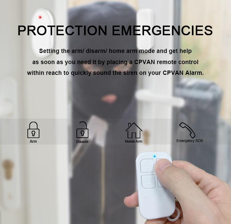 Hd141932d30354d4185588bd8f34e02fbY - CPVAN Wireless Doorbell Alarm System Smart WIFI Doorbell Strobe Siren Tuya App 58 Sound Compatible Home Security Alarm System