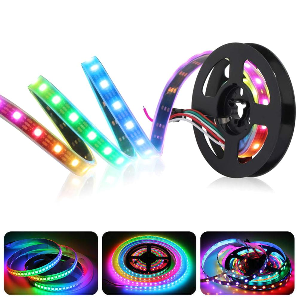Addressable WS2812B Pixel Strip Light Individually WS2812 IC Built-in RGB DC5V 144/300 leds Led Band Led Stripe Neon Light 1/5m image