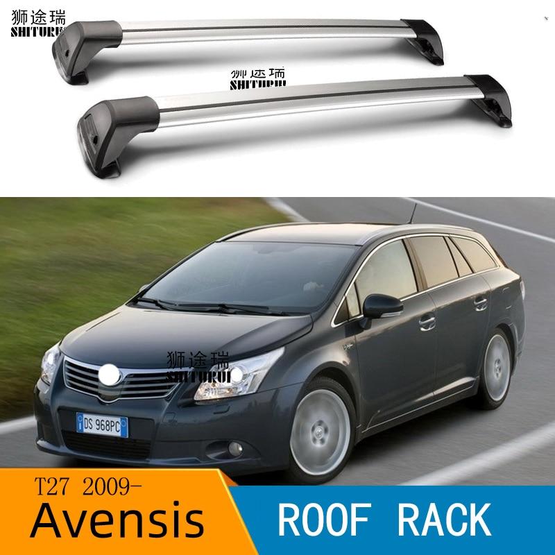 Toyota Avensis Verso T250 06/>09 CAR ROOF BARS BAR RACK BLACK LOCKABLE