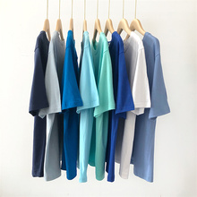 Tee Shirt Solid Color Basic T Shirt Women Casual O-neck Harajuku Summer Top Korean Hipster Cotton Ba