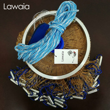 Lawaia Casting Net Throw Iron Hand Throwing Net Monofilament Cast Net Fishing Nets Fish Trap Net Fishing Tool Diameter 2.4m-7.2m lawaia casting net falling hand throwing net fishing nets diamter 2 4m 4 2m high quality sports korean hand throw fishing net