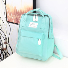 цены New College Backpack Casual Girls Teenagers Shoulder Bags Canvas Zipper Daypack Book Bag Travel Backpack