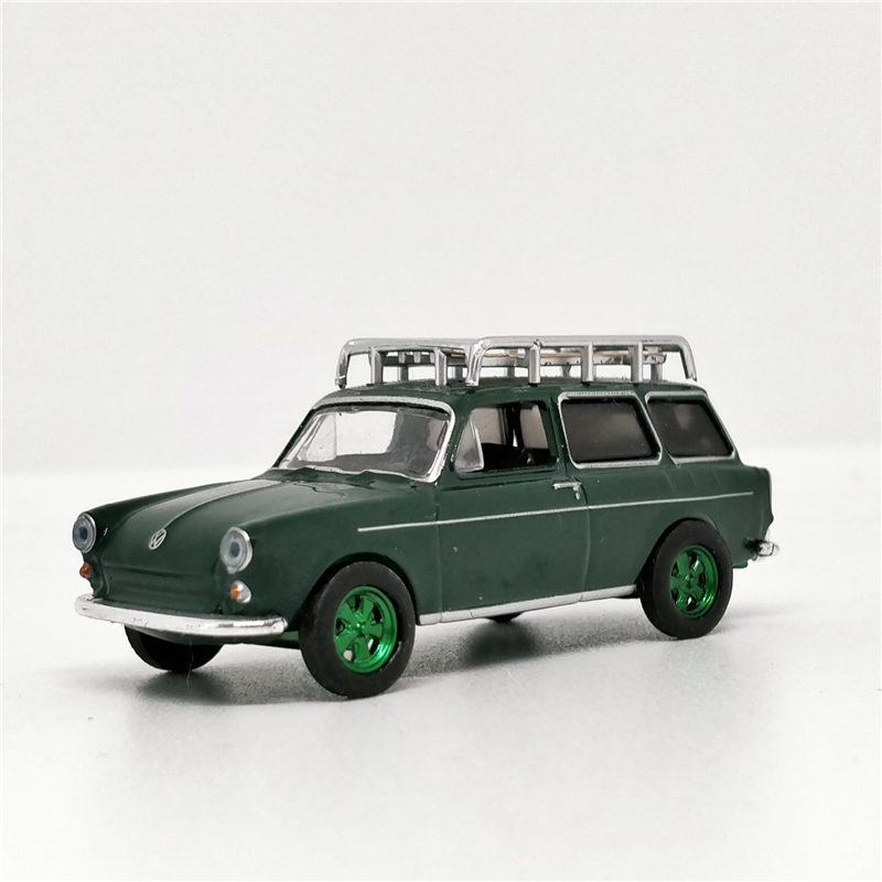 Greenlight 1:64 VW Type 3 Estate Wagons Squareback with Roof Rack Green Machine No Box image